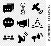 communicate icons set. set of 9 ...   Shutterstock .eps vector #651534760