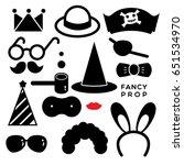 fancy prop fancy accessories... | Shutterstock .eps vector #651534970