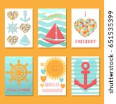 set of cards in summer style....   Shutterstock .eps vector #651535399