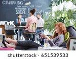 woman taking business rest... | Shutterstock . vector #651539533