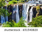 Waterfall Mountain Scene