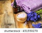 spa still life with essence... | Shutterstock . vector #651550270