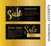golden banners. gold text. gift ... | Shutterstock .eps vector #651550876