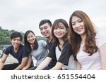 group of successful students on ... | Shutterstock . vector #651554404