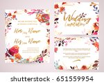 cute spring and summer template ... | Shutterstock .eps vector #651559954