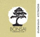 bonsai gardening club creative... | Shutterstock .eps vector #651566266