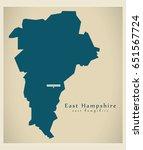 modern map   east hampshire... | Shutterstock .eps vector #651567724