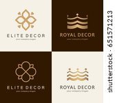 a collection of logos for... | Shutterstock .eps vector #651571213