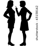 two angry business women... | Shutterstock .eps vector #65158162