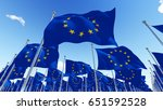 flags of the european union... | Shutterstock . vector #651592528