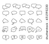 speech bubble  thin monochrome... | Shutterstock .eps vector #651593230