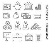 financial management  thin... | Shutterstock .eps vector #651593248