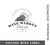 wine label isolated on white... | Shutterstock .eps vector #651594253