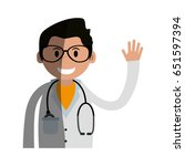 male medical doctor icon image  | Shutterstock .eps vector #651597394