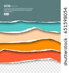 colorful torn paper collection... | Shutterstock .eps vector #651598054