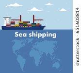 sea shipping banner template.... | Shutterstock .eps vector #651603814