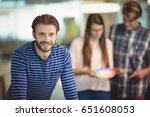 portrait of smiling graphic... | Shutterstock . vector #651608053