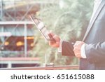 business man working for... | Shutterstock . vector #651615088