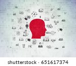 business concept  painted red... | Shutterstock . vector #651617374