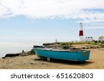 wooden boat by the seaside and... | Shutterstock . vector #651620803