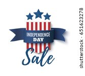 independence day sale... | Shutterstock .eps vector #651623278