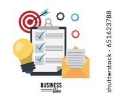 colorful poster with business... | Shutterstock .eps vector #651623788