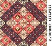 seamless pattern with... | Shutterstock .eps vector #651624598