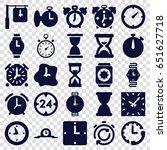 timer icons set. set of 25... | Shutterstock .eps vector #651627718