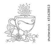 vector cup of rosehip herbal... | Shutterstock .eps vector #651628813