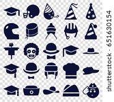hat icons set. set of 25 hat... | Shutterstock .eps vector #651630154