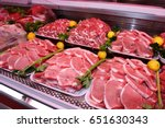Meat Department Shelves With...