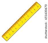 vector cartoon yellow ruler on... | Shutterstock .eps vector #651630670