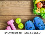 fitness  healthy and active... | Shutterstock . vector #651631660