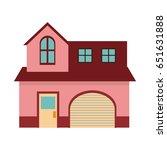 Pink Home Garage Facade...