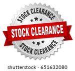stock clearance round isolated... | Shutterstock .eps vector #651632080