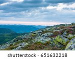 beautiful summer sunrise....   Shutterstock . vector #651632218