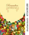 vector illustration of ramadan... | Shutterstock .eps vector #651638188