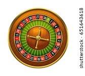 casino wheel illustration. 3d... | Shutterstock .eps vector #651643618