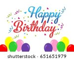 abstract happy birthday... | Shutterstock .eps vector #651651979