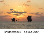 offshore industry oil and gas... | Shutterstock . vector #651652054