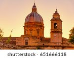 famous basilica of st. francis... | Shutterstock . vector #651666118