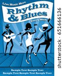 illustrated poster for a rhythm ... | Shutterstock .eps vector #651666136