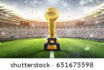Small photo of Confederations Cup. Golden trophy in the form of the globe. 2017. 3d render