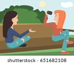 girls shooting video vector...   Shutterstock .eps vector #651682108