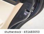 lock button to prevent children | Shutterstock . vector #651683053