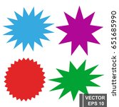 vector elements. stickers for... | Shutterstock .eps vector #651685990