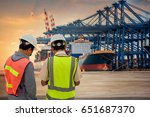 inspector or audit checking the ... | Shutterstock . vector #651687370