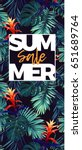 floral sale design with... | Shutterstock .eps vector #651689764