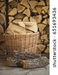 firewood for the fireplace ... | Shutterstock . vector #651693436