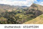 landscape of pisaq in peru's... | Shutterstock . vector #651695284